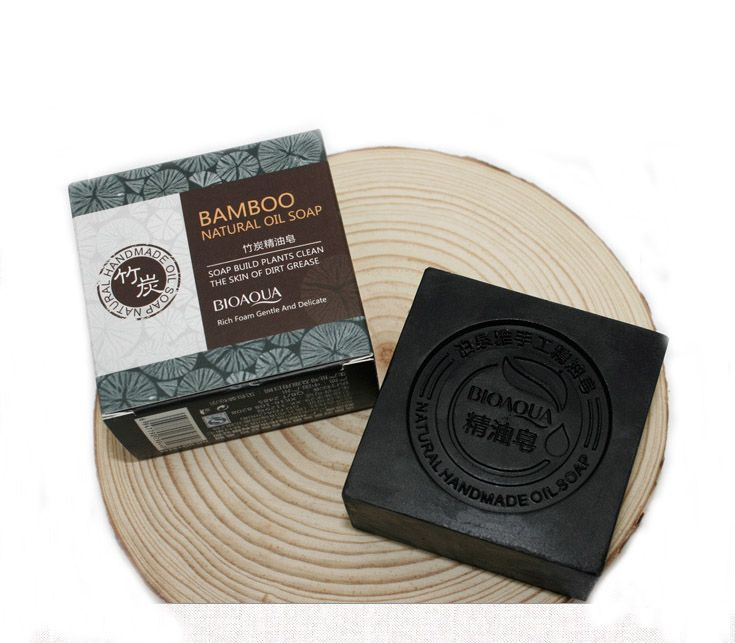100g Bamboo Charcoal Essential Oil Handmade Soap for Face Cleansing Bath Shower