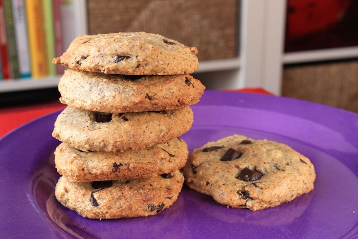 Paleo Hazelnut Chocolate Chip Cookies
