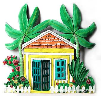 Tropical Wall Decor 751 best tropical decor - painted metal home decor - haitian steel