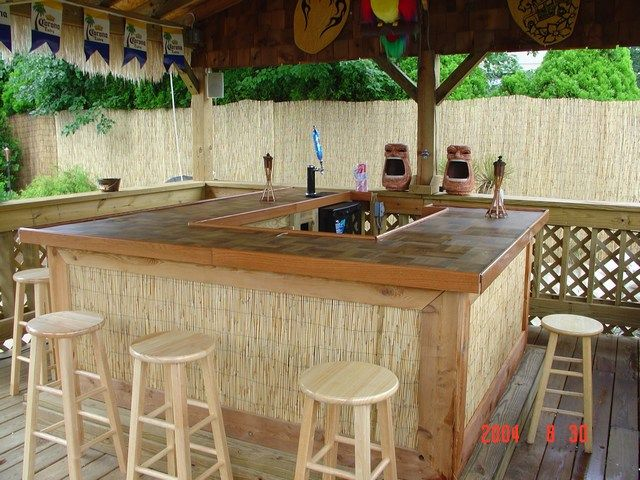 Simple Tiki Bar Plans Woodworking Projects Amp Plans