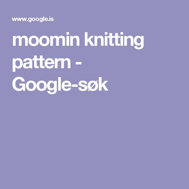 moomin knitting pattern - Google-søk