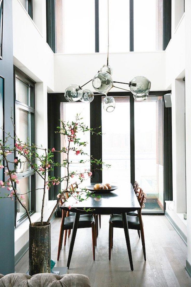 pinterest'teki 25'den fazla en iyi narrow dining tables fikri