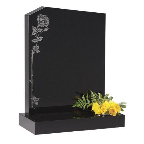 Headstone Prices   Dense Black Granite Headstones