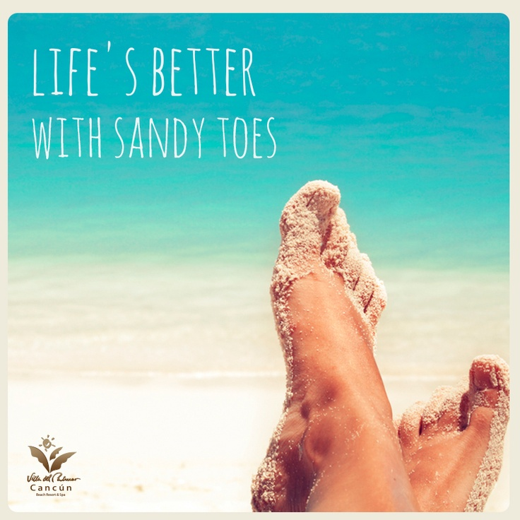 Life's better with sandy toes ;)  Villa del Palmar Cancun