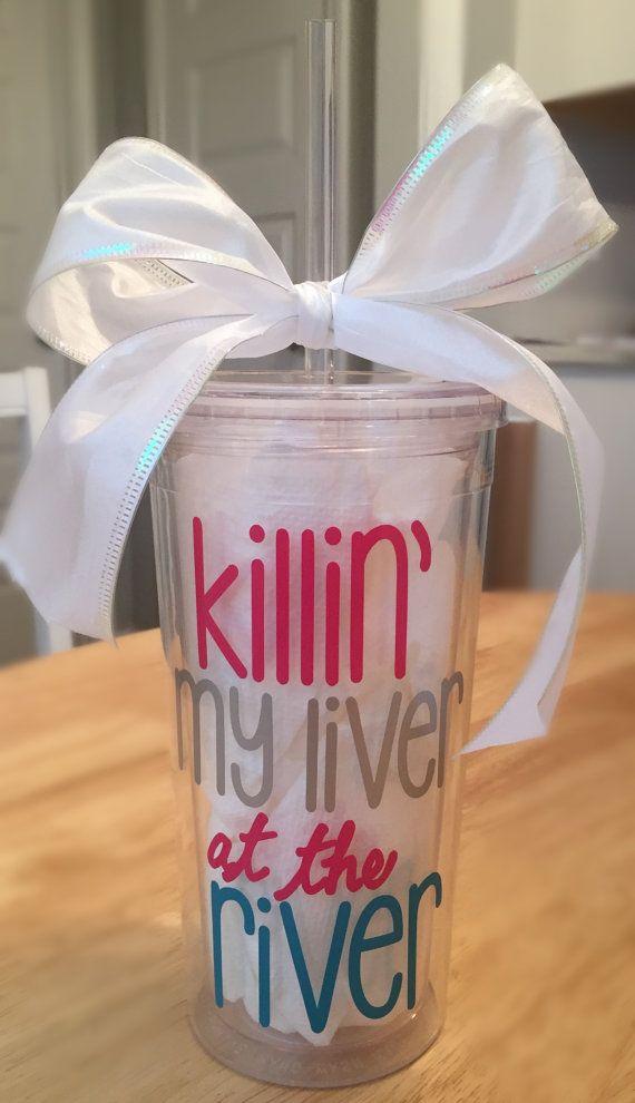 Killin' my liver at the river 24 oz Tumbler