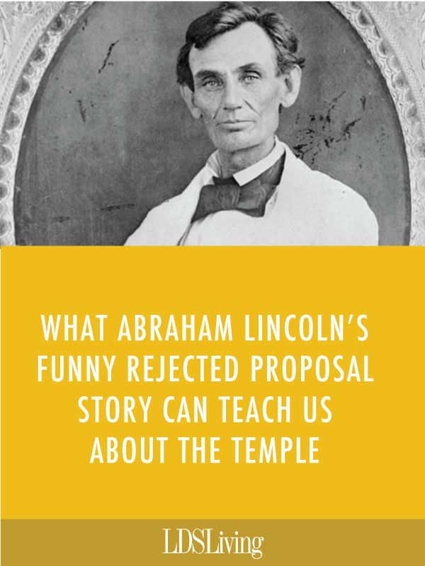 After Abraham Lincoln made a fool of himself with a certain young lady, he chose April Fool's Day as the time to write his friends about the event. But what does all this have to do with our temple covenants?