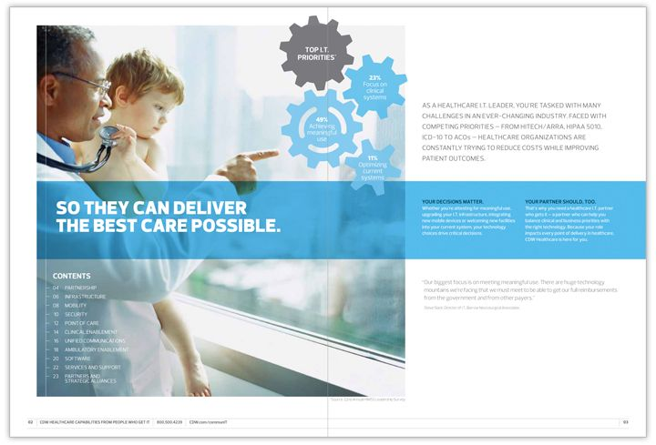 Cdw Healthcare Brochure  Studionorth  Hospital Brochures
