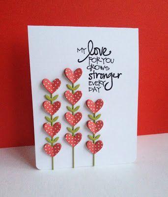 50 Amazing Ideas For Valentine Handmade Cards – Amelia Pasolini