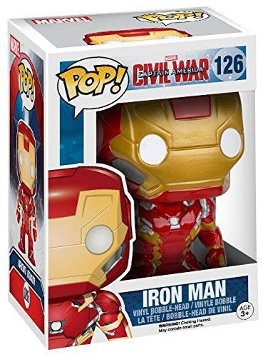 Captain America Civil War Iron Man Bobble-Head 126 Figurine de collection: Captain America Civil War 'Iron Man Bobble-Head 126' pour Unisex…
