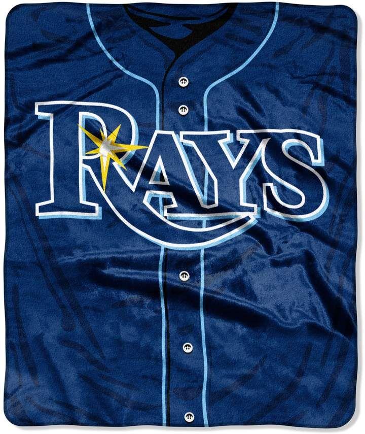 Multicolor 1MLB070600028RET Northwest Company Tampa Bay Rays Moonshot Raschel Throw Blanket