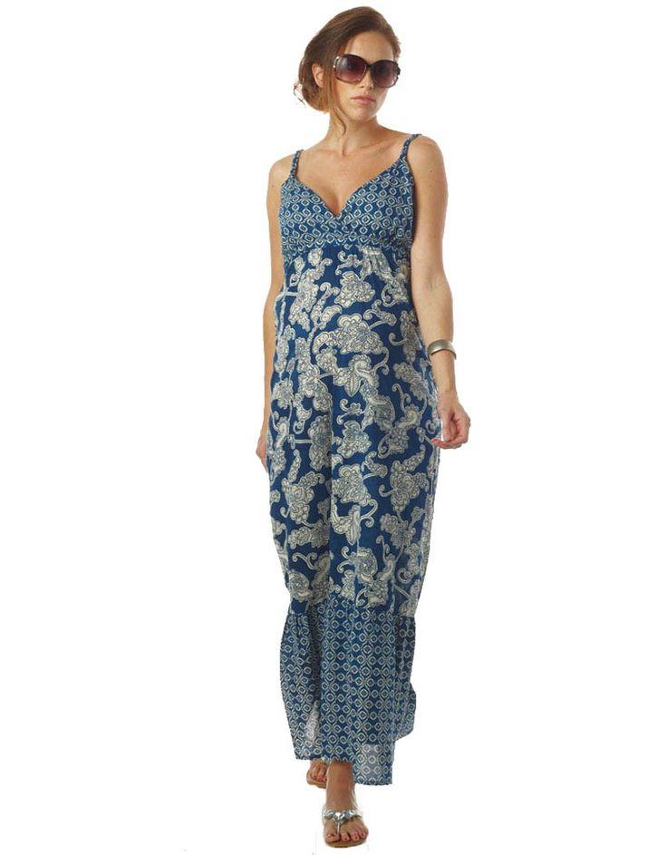 Rochia Matilda, blue print. Perfecta pentru gravidute si mamici care alapteaza.