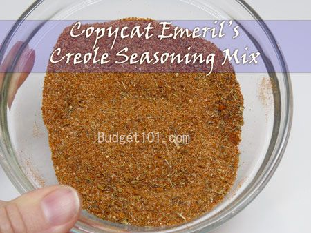 Budget101.com - - Make your own Emeril`s Creole Seasoning Mix | Homemade Seasoning Mixes