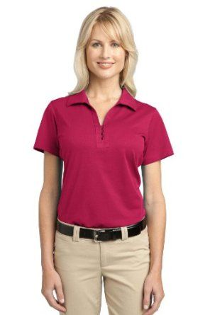 Port Authority - Ladies Tech Pique Polo. L527 - Raspberry Pink_XL Port Authority. $26.78
