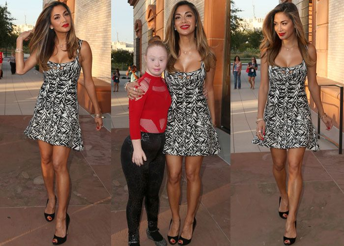 Nicole Scherzinger in Talks for a Pussycat Dolls Reunion, Arrives at the Special Olympics in Peep Toe Pumps