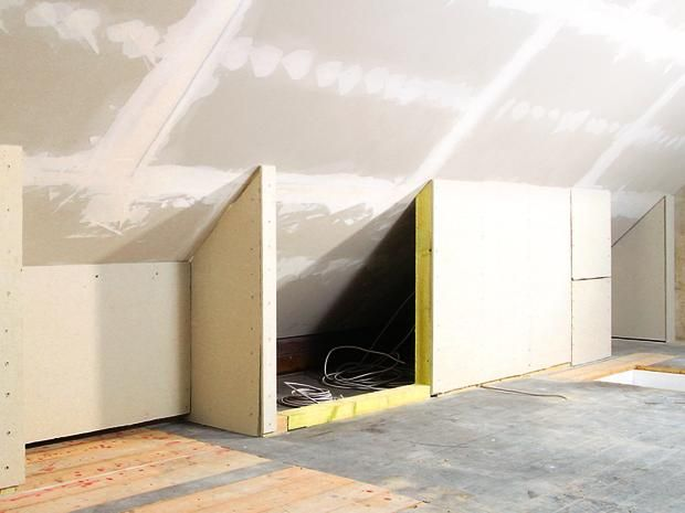 So Bauen Und Verkleiden Sie Eine Drempelwand Bauhaus Dachschrage Verkleidung Trockenbau Ideen