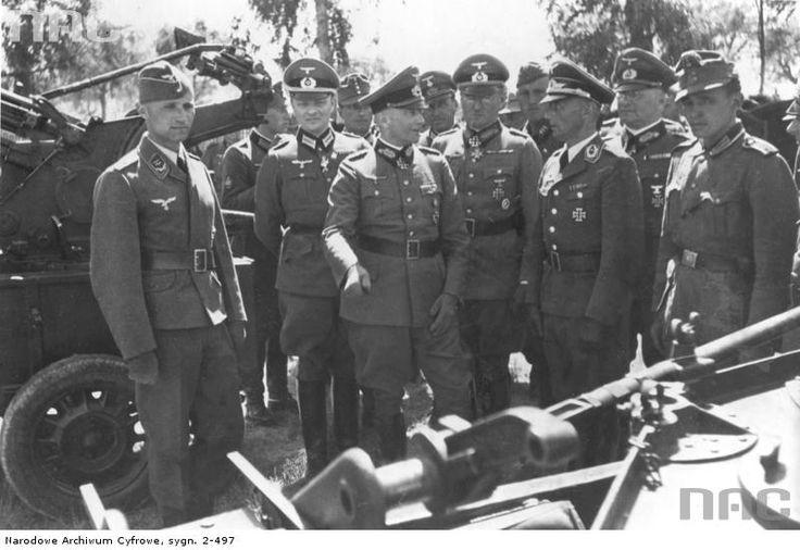 Walther von Brauchitsch 1941 inspection at the Balkan front.