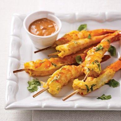 Crevettes jumbo sauce satay - Recettes - Cuisine et nutrition - Pratico Pratique