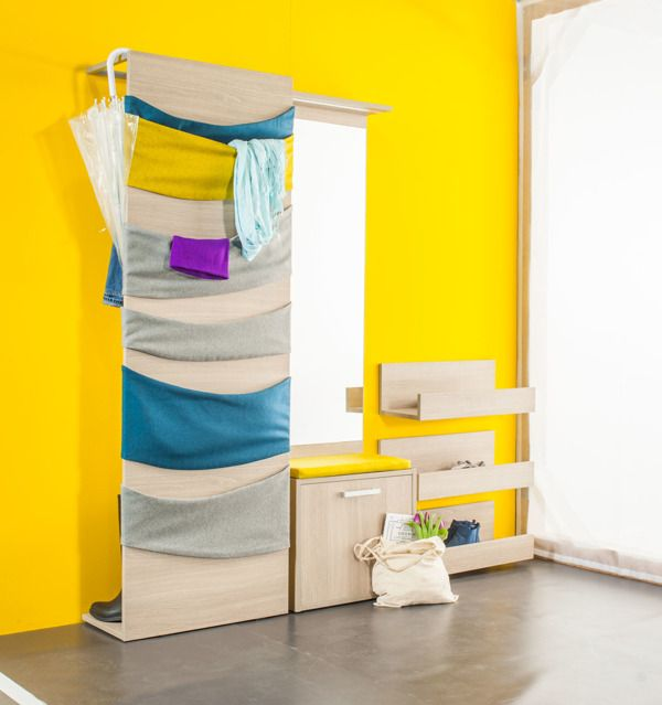 Pok - furniture for small corridors by Agata Nowak and Joanna Fredrych, via Behance