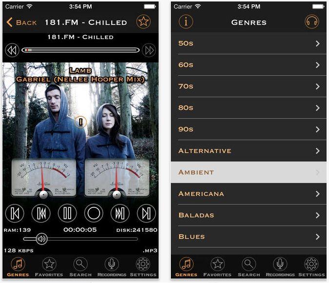 airadio pro, una aplicacion para escuchar y grabar la radio desde nuestro iPhone