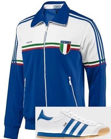 "ce4dbc7e42e3 Stunning Vintage Adidas""82 Italia Trackie Top..   Shorts   Adidas ..."
