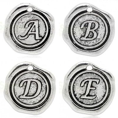 Add On Initial A-Z Charm personalized letter by 4TasteofShabbyChic