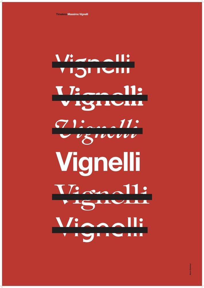 1425399502 En hommage à la vie et l'œuvre du designer italien Massimo Vignelli, mort en 2014, Alain Villastrigo et Ernesto Arnaez graphistes du studio basque Husmee ont sollicité graphistes et designers du monde entier le temps d'une exposition exceptionnelle.