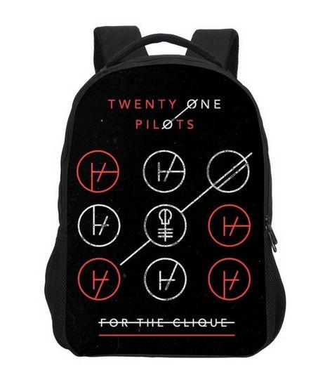 Twenty One Pilots Backpack Blurryface School Bags musical duo shoulder bags