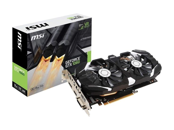 Msi Gaming Geforce Gtx 1060 6gb Gddr5 Graphic Card Msi Video Card
