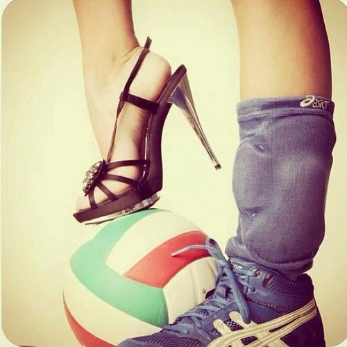 We are girl we are volleyballer we are both of them :)
