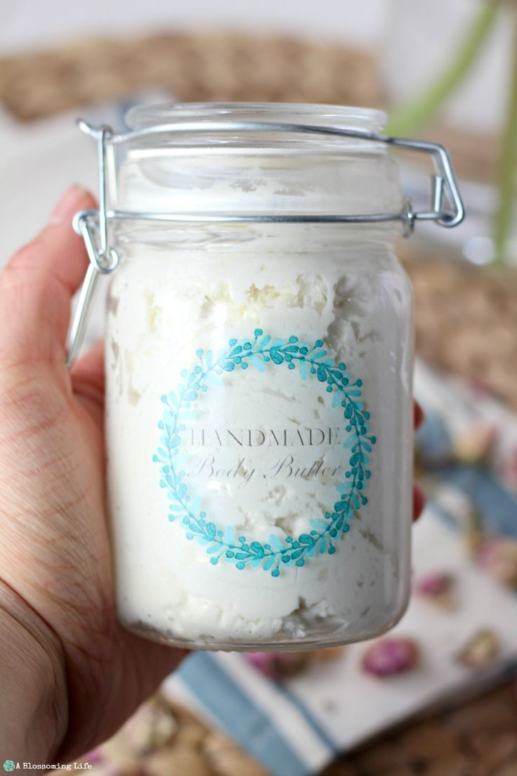 This homemade body butter is deeply nourishing and only made from a few all natural ingredients and comes together quickly.