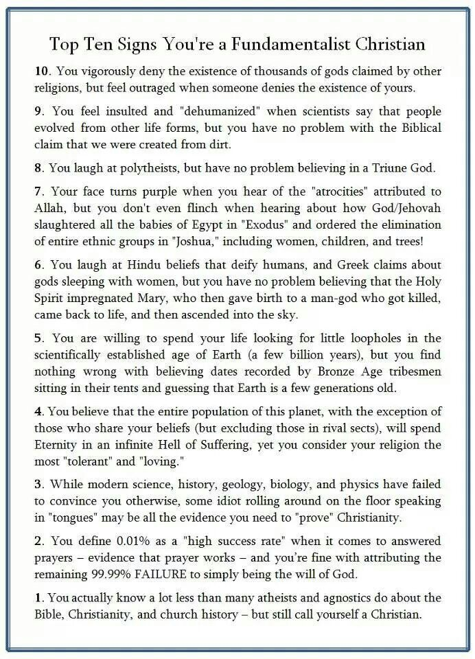 a questionnaire of the justified questions about the myths of christian religion Reflections on euthanasia and assisted suicide fr frank pavone national director, priests for life 1 do we have a right to die when people ask me about the right to die, i respond, don't worry -- you won't miss out on it.