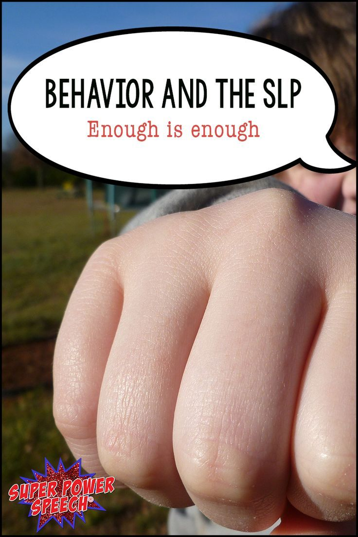 """At what point can an SLP put down her foot and say, """"Enough is enough! This child's behavior is not due to their communication disorder."""""""