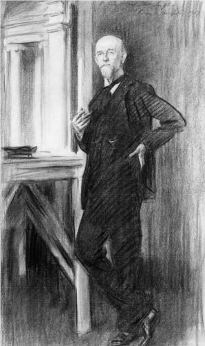 Portrait of Charles Martin Loeffler - John Singer Sargent, 1917.