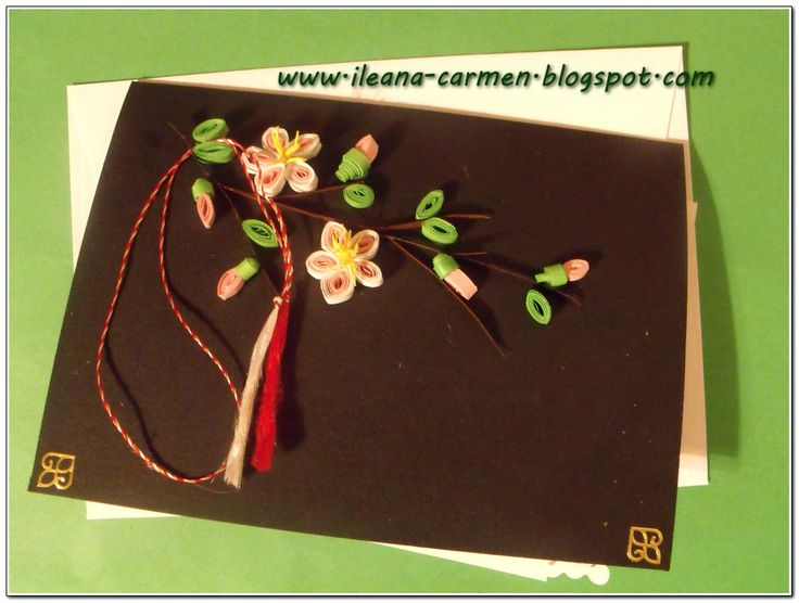 Spring Quilling Card for Celebration of 1-st March in Romania.