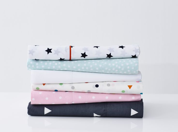 Adairs Kids Mix It Up Sheet range - the classics with a touch of kids fun