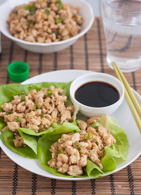 This is the one I made tonight. So. Good. Asian Chicken Lettuce Wraps (PF Chang Copycat Recipe) | Flickr - Photo Sharing!