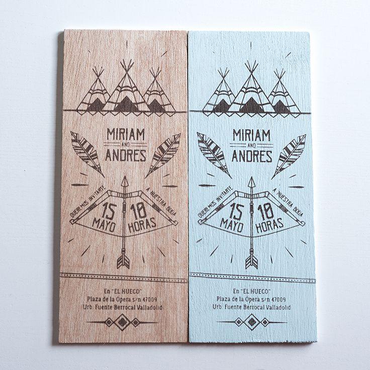 Colores pastel para tus invitaciones de madera