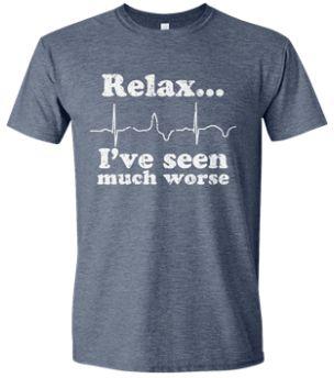 UA Relax Unisex Short Sleeve Tee   Show some class and sass with this fitted Gildan short sleeve t-shirt! Style # UAMRELAX #UniformAdvantage #UAscrubs #FunnyScrubs #ADayInScrubs #Nurse #MensScrubs