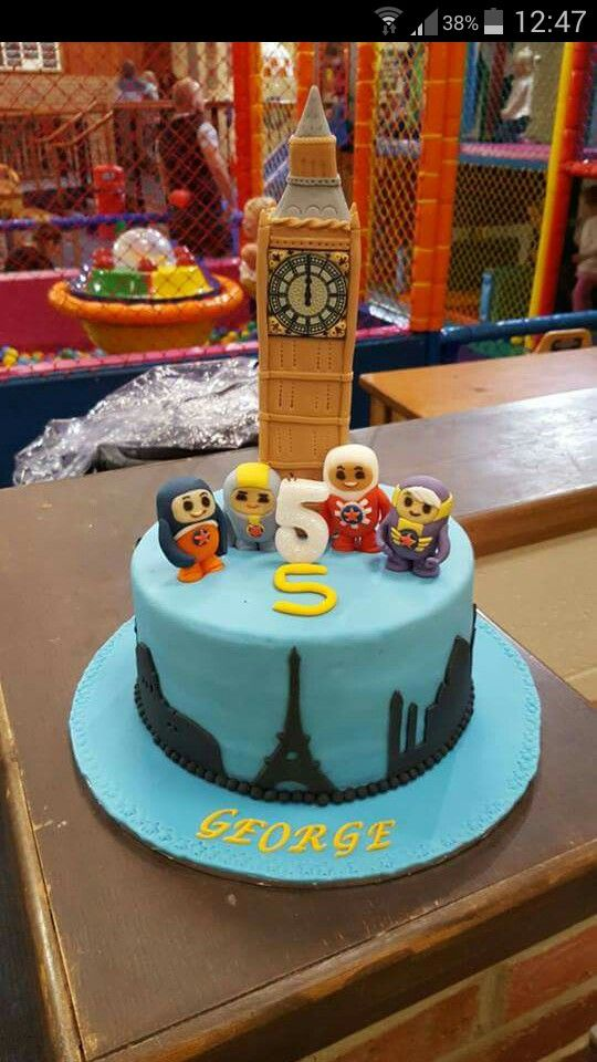 Big ben, go jetters, birthday cake
