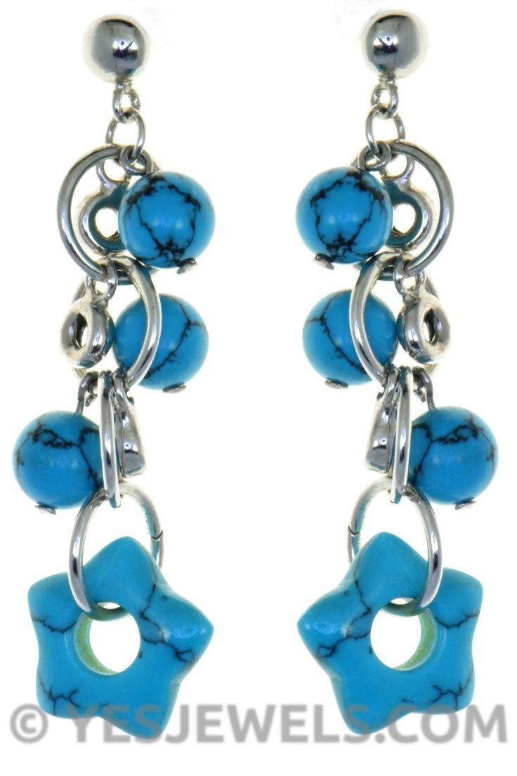 #turquoise #turkuaz #firuze taşlı #gümüş #küpe #yesjewels
