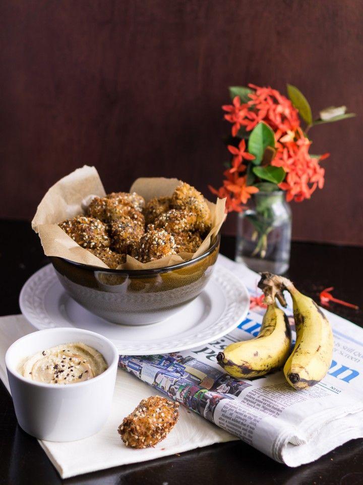 Банановые пончики с кунжутно-карамельным соусом + рецепт тахини » Рецепты » Кулинарный журнал Насти Понедельник