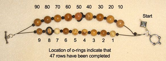 This is a tutorial for a bracelet which counts rows. I can make this thus afford it. Sweet!