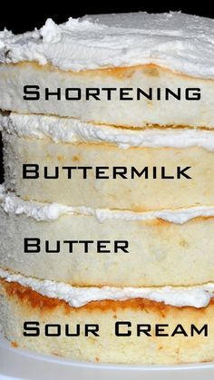 White Cake Recipes From Scratch with links to the recipes ~ Cakes made with shortening, buttermilk, just butter, and sour cream.