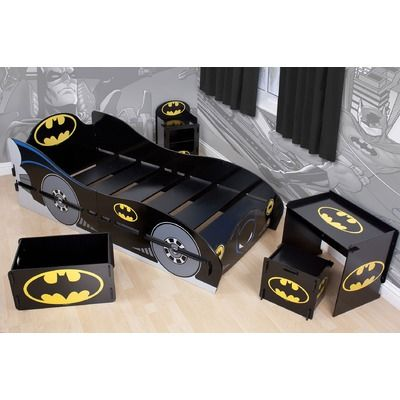 Batman Kidsaw Furniture Range: Batman Kidsaw Bed (RRP / Batman Kidsaw  Toybox, Desk Chair And Bedside Table From GBP / Available From   Character  World