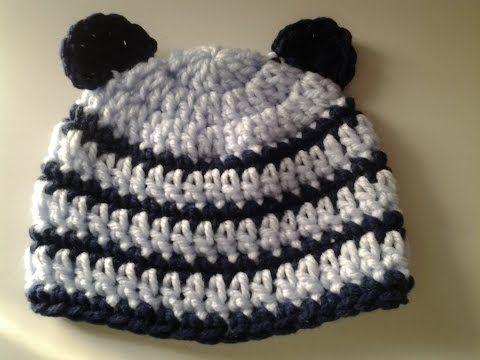 Como tejer un gorro a crochet en varios talles - YouTube