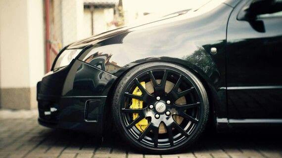 Skoda Fabia RS on Audi wheels