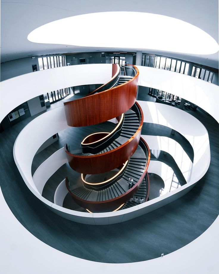 Spiral Staircase at the Abercrombie Building at the University of Sydney, Australia