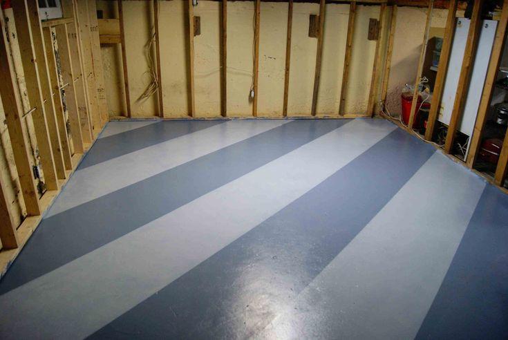 Sketch of Steps for Easy Painting Basement Floors