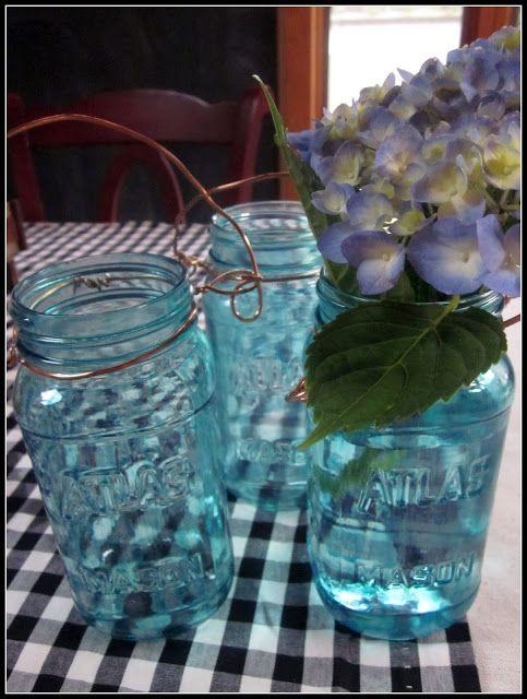 Staining mason jars