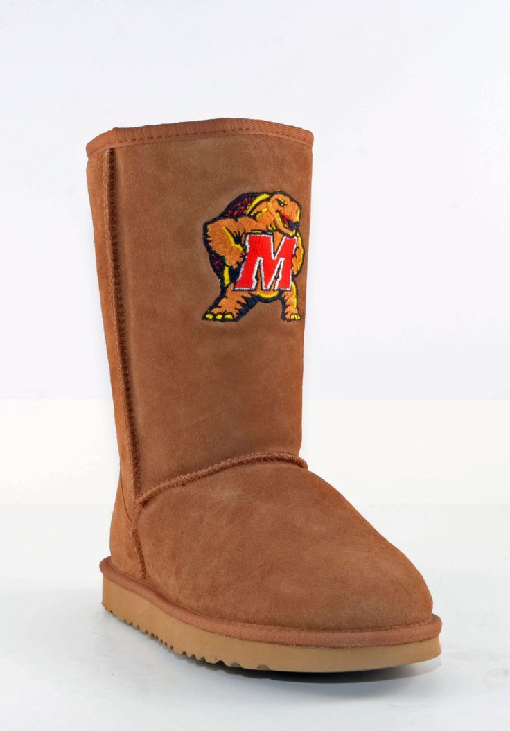 Gameday U Of Maryland Ladies Sheepskin Roadie Boots - Hickory